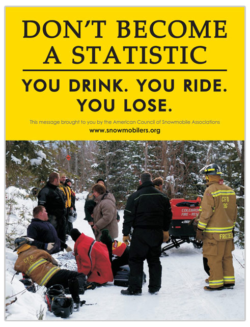 Don't Drink Ride Statistic Poster