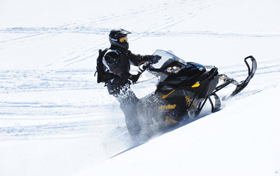 High marking snowmobiler